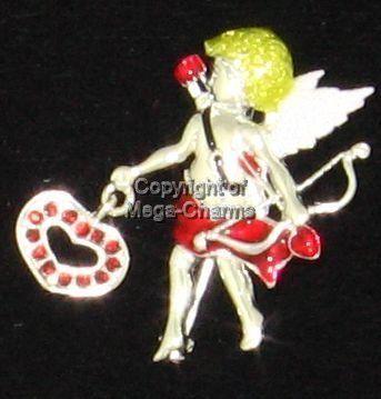 Swarovski Cupid Valentines Day Heart Brooch AB1104