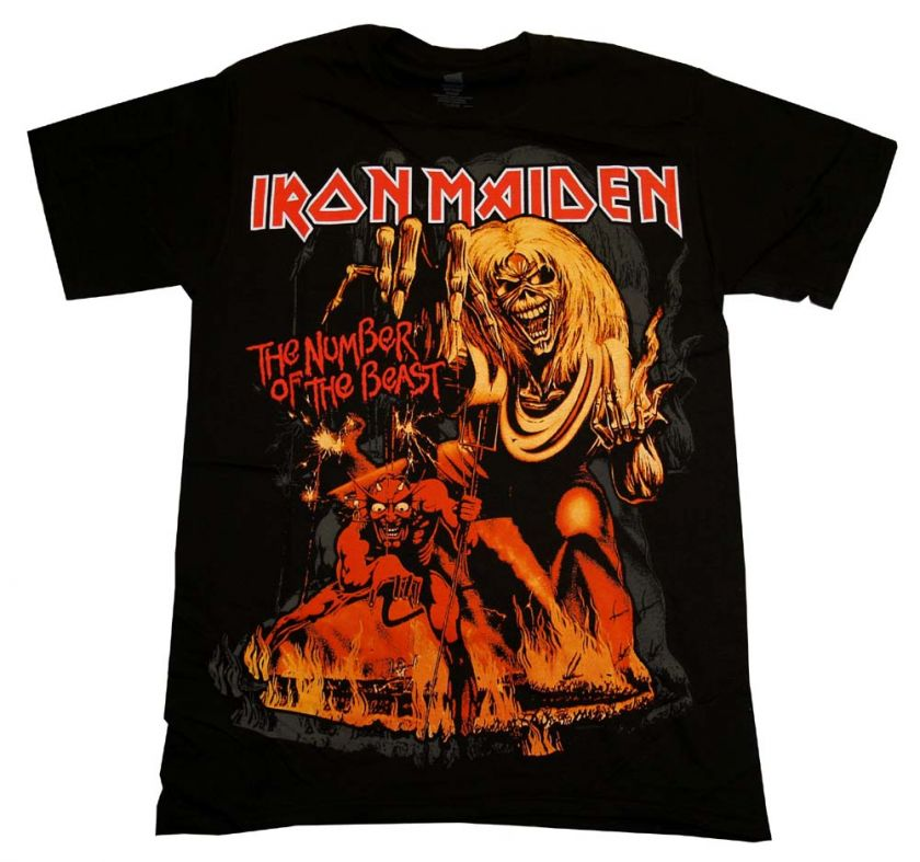 Maiden Number Of The Beast Album Cover Rock Band T Shirt Tee