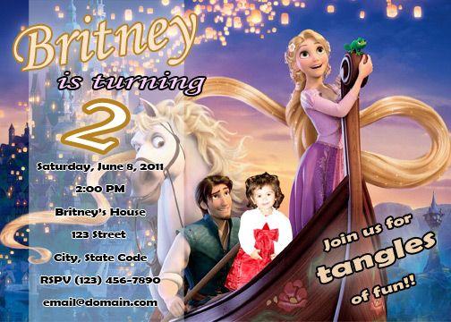 Tangled Disney CUSTOM BIRTHDAY PARTY INVITATION (PHOTO)