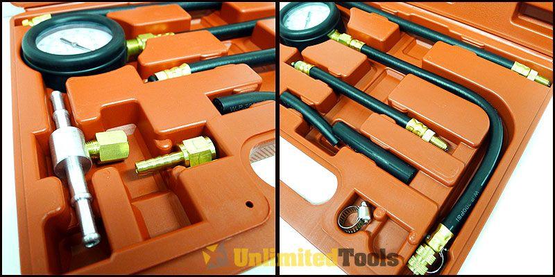 Fuel Injection Pump Pressure Gauge Tester Gasoline Test Tools Tuner