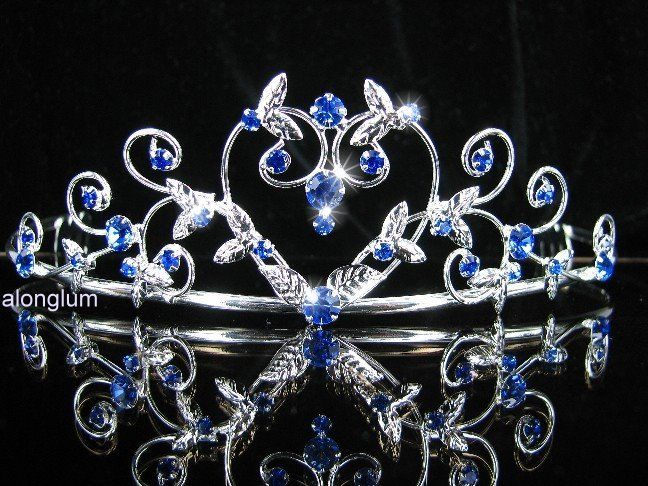 A35 11 Blue Wedding Bridal Bridesmaid Prom Swarovski Crystal