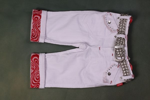 Pampolina Angel Wings White Capris Jeans 4 5 6 6X 7 NWT