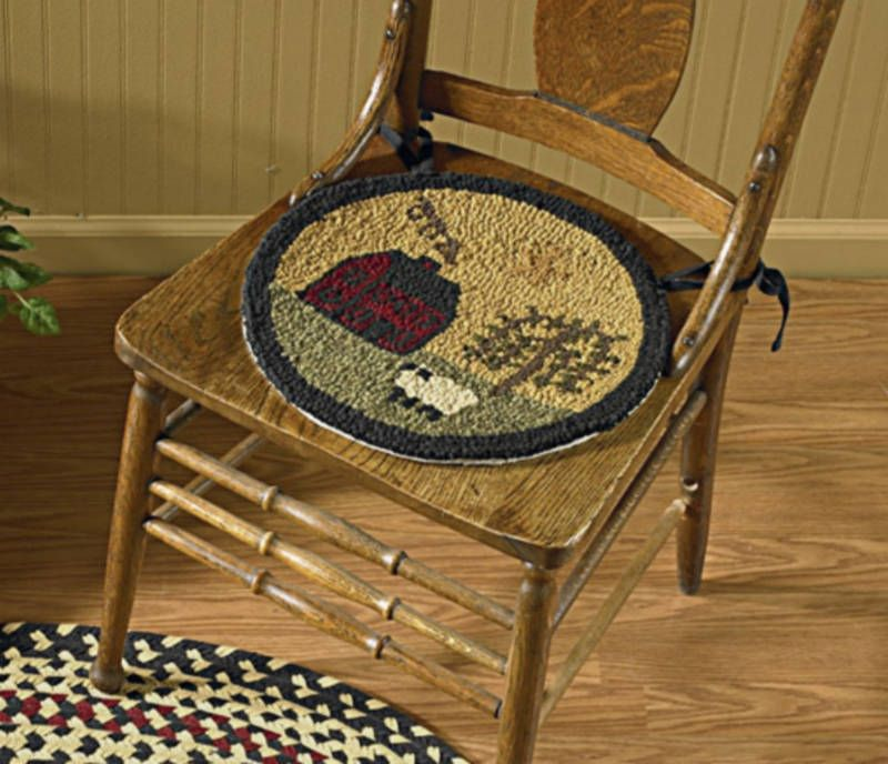 NEW PARK DESIGNS WILLOW LANE HOOKED CHAIR PAD SETS