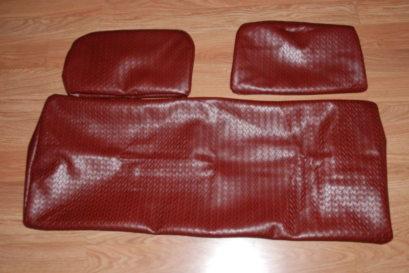Golf cart seat cover for 99 & DN Club car wine leather