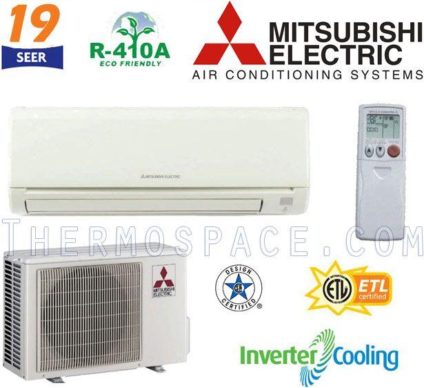 Mitsubishi MR. SLIM Ductless Mini Split Air Conditioner 19.2 SEER COOL